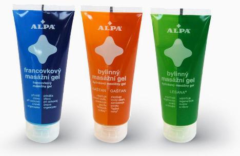 Bylinné masážní gely ALPA