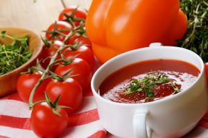 Rajčatová  Gazpacho polévka