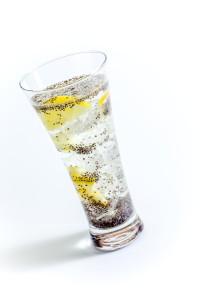 chia semínka v limonádě