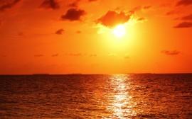 žhavý sluneční večer