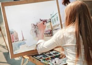levoruká malířka