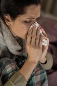 rýma a ucpaný nos