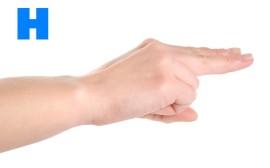 H znakovou řečí